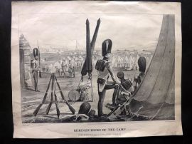 Henry Alken 1853 Antique Military Print. Reminiscenes of the Camp. Coldstreams